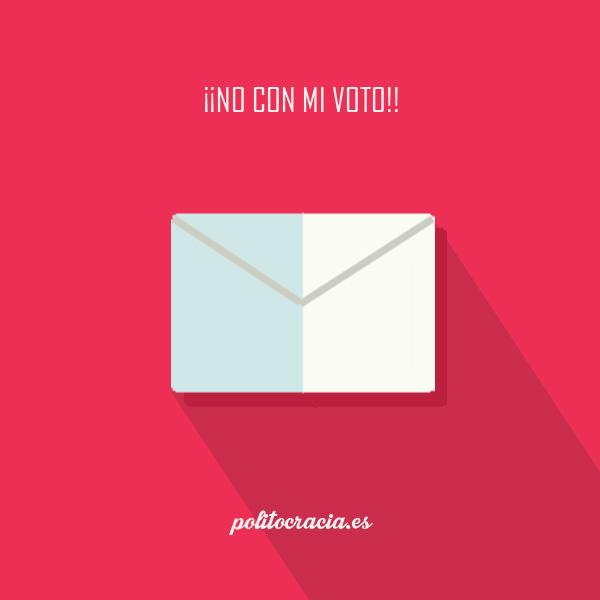 no con mi voto