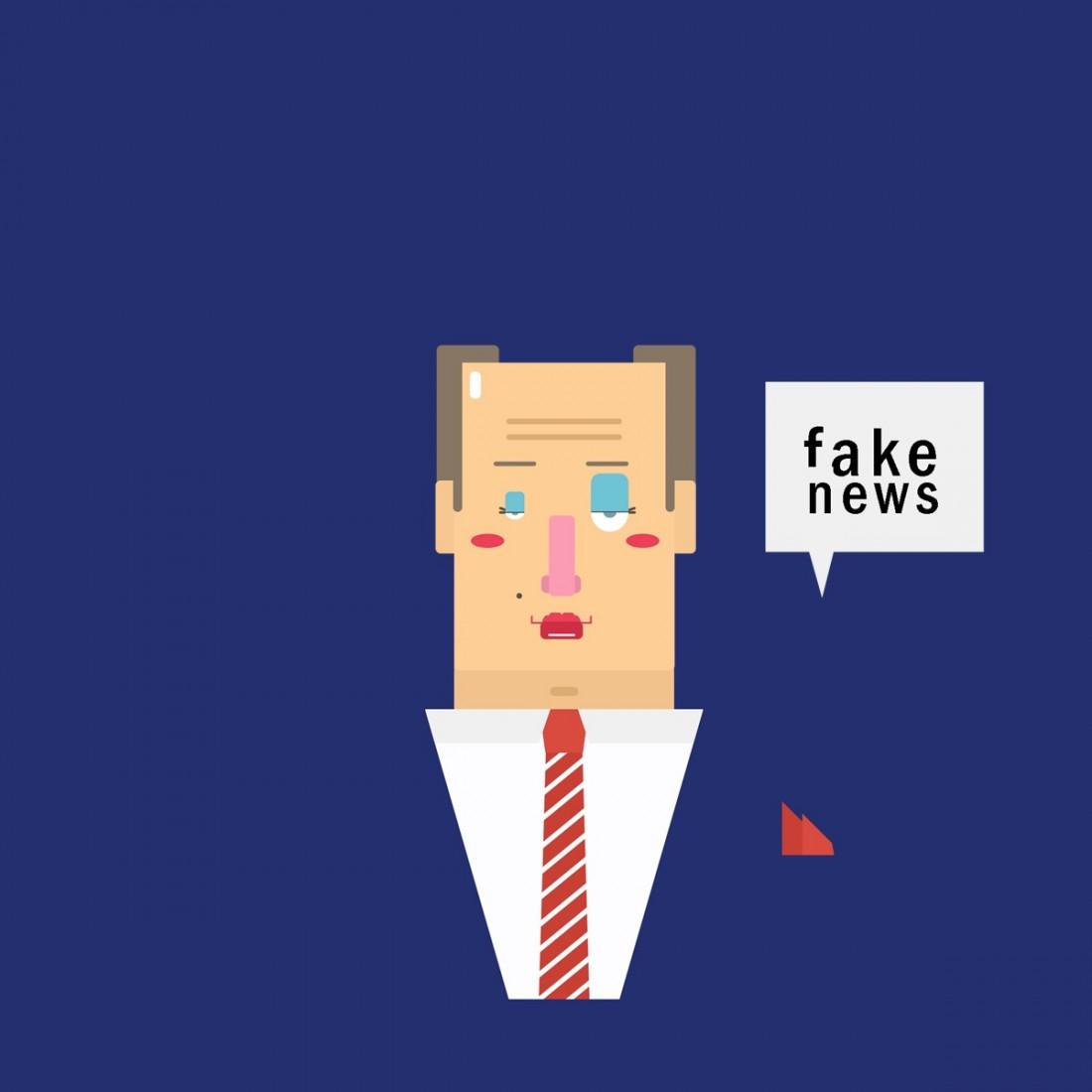 ilustración noticias falsas