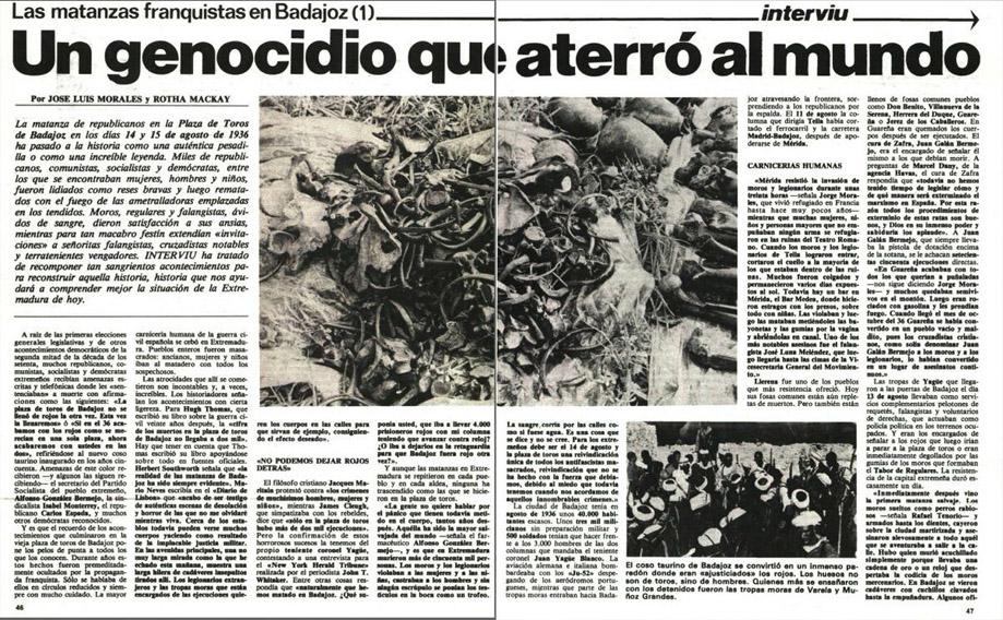 la matanza de Badajoz