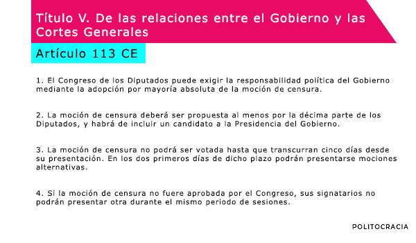 artículo 113 constitución española