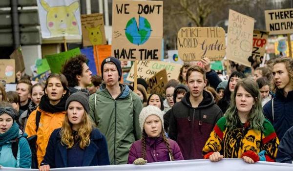 Manifestación contra el cambio climático