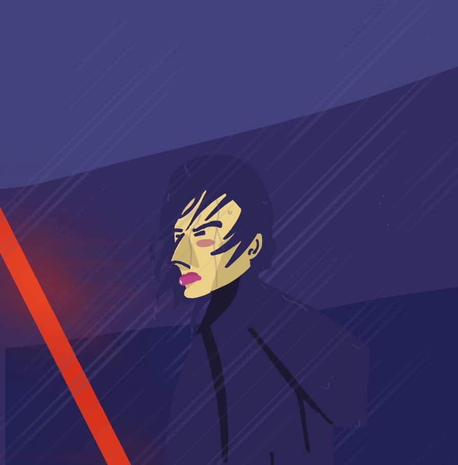 Ilustración Kylo Ren